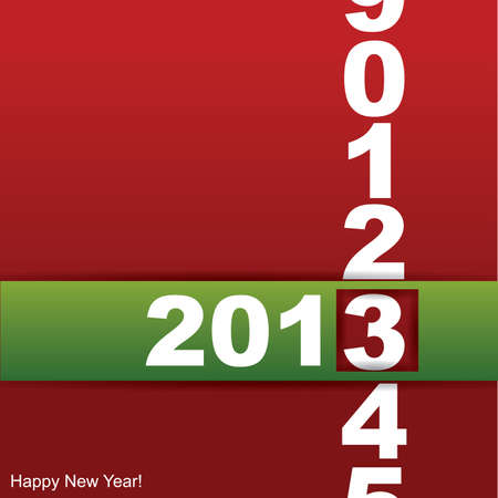 New year card Stock Vector - 15640470