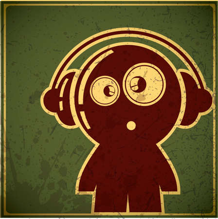 funny boy with headphones