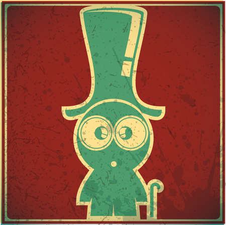 Funny boy in hat Vector