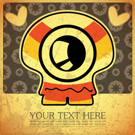 Monster on retro background Stock Vector - 15817547