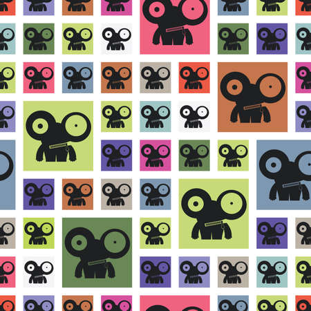 monster - seamless pattern Vector