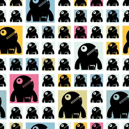 monster - seamless pattern Stock Vector - 15835001