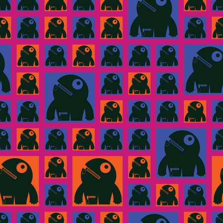 monster - seamless pattern Stock Vector - 15835005