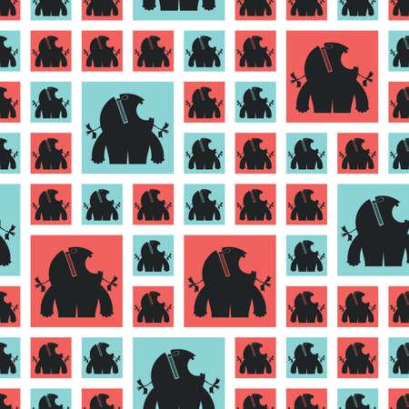 monster - seamless pattern Stock Vector - 15835056