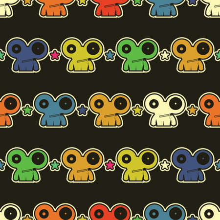 Monsters - seamless pattern Stock Vector - 15957957