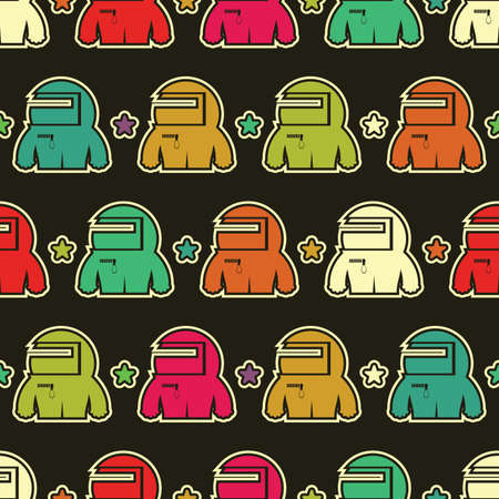 Monsters - seamless pattern Vector