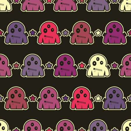Monsters - seamless pattern Stock Vector - 15957961