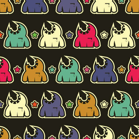 Monsters - seamless pattern Stock Vector - 15957953