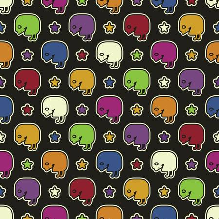 Monsters - seamless pattern Stock Vector - 15957967