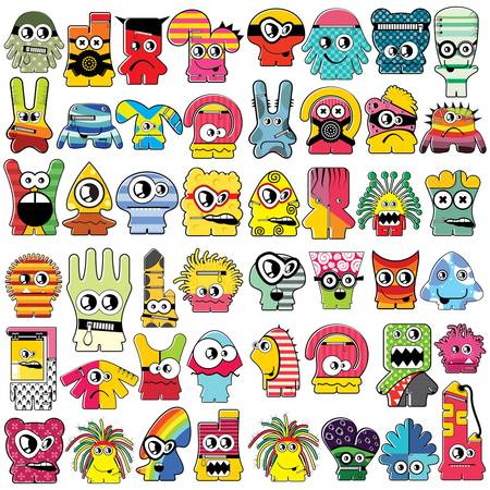 Monsters  Stock Vector - 16233540
