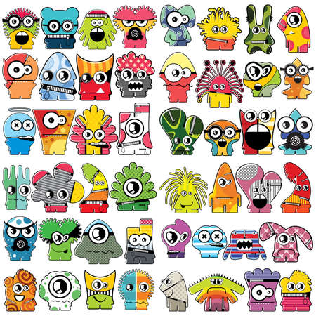 Monsters   Stock Vector - 16233545