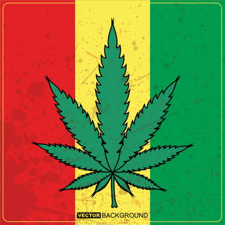 cannabis: Abstract background mit Hanf