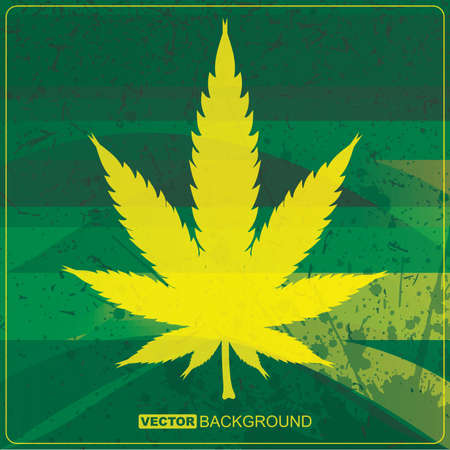 Abstract background with cannabis leaf