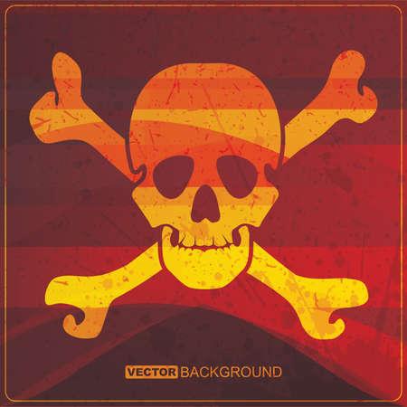 skull on grunge background Stock Vector - 16421419