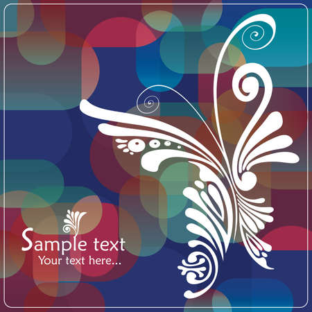 Vintage card with butterfly Stock Vector - 16421367