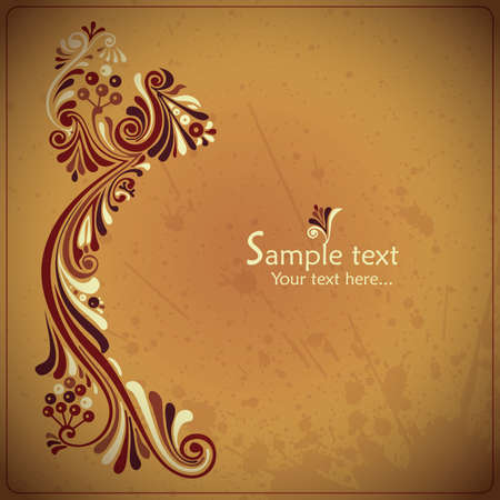 Vintage card with floral elements Vector