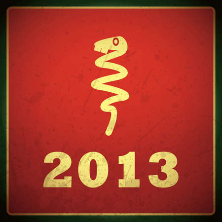 New year card with snake Stock Vector - 16699816