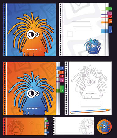 Notebook with monsters Stock Vector - 16699727