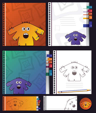 Notebook with monsters Stock Vector - 16699729