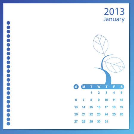 January 2013 Stock Vector - 16699609