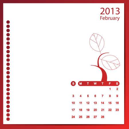 February 2013 Stock Vector - 16699599