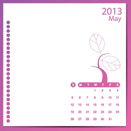 May 2013 Stock Vector - 16699602
