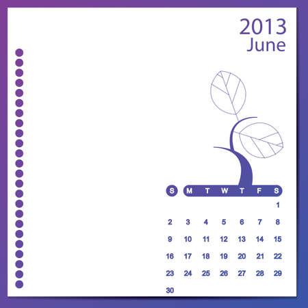 June 2013 Stock Vector - 16699600