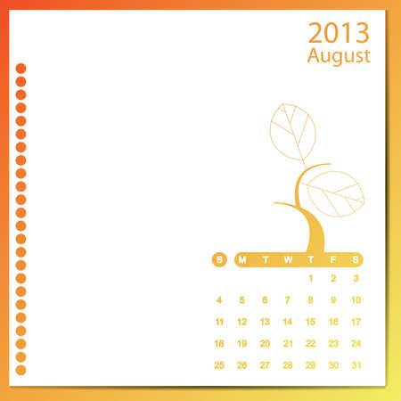 agosto: Agosto 2013 Vettoriali