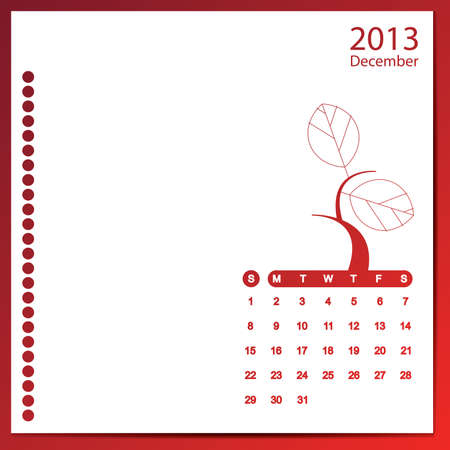 December 2013 Stock Vector - 16699610