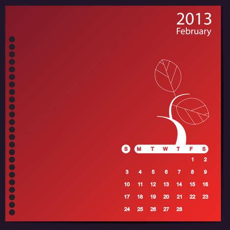 February 2013 Stock Vector - 16699406