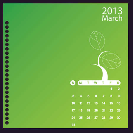 March 2013 Stock Vector - 16699415