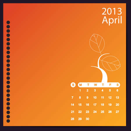 April 2013 Stock Vector - 16699407
