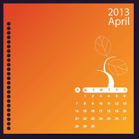 April 2013 Stock Vector - 16699407