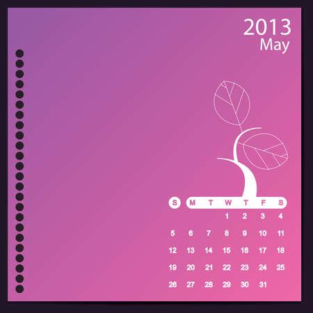May 2013 Stock Vector - 16699411