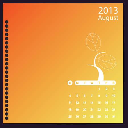 August 2013 Stock Vector - 16699414