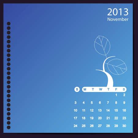 November 2013 Stock Vector - 16699409