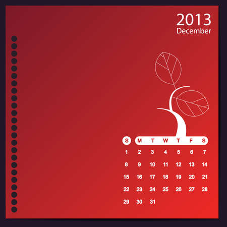 December 2013 Stock Vector - 16699598