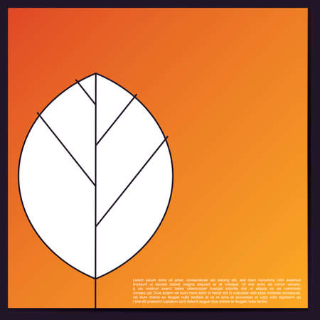 Card with leaf Vector