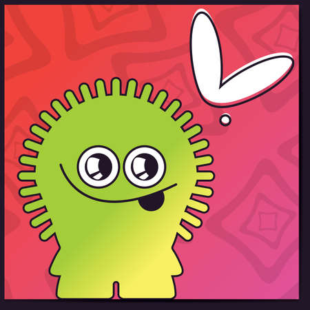 Monster with heart Vector