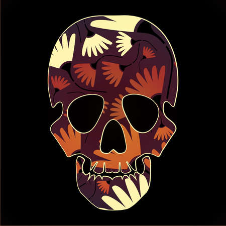 mort: Colorful skull