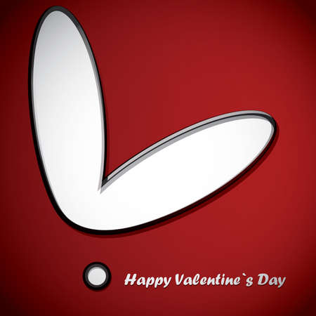Valentine`s day card Stock Vector - 16912448