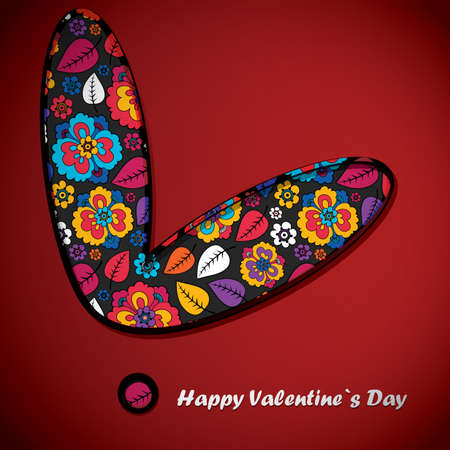 Valentine`s day card Stock Vector - 16912557