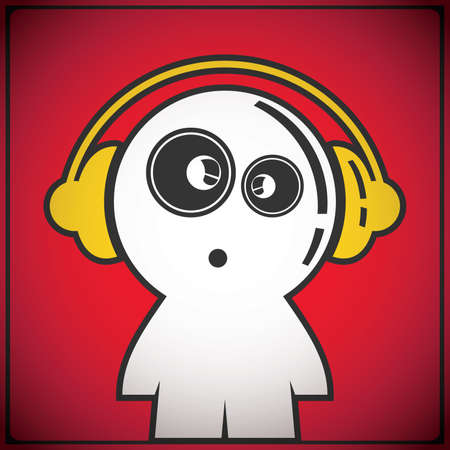 gender identity: funny boy with headphones