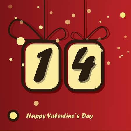 Happy valentine`s day card Stock Vector - 16912095