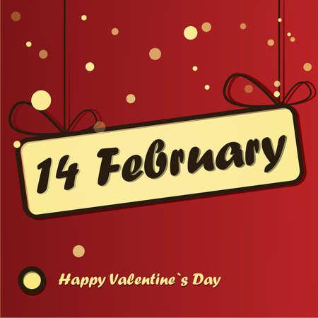 Happy valentine`s day card Stock Vector - 16912416