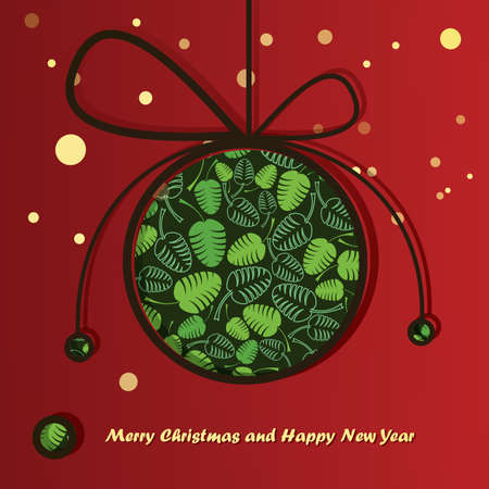 New Year card with Christmas ball Stock Vector - 16912489