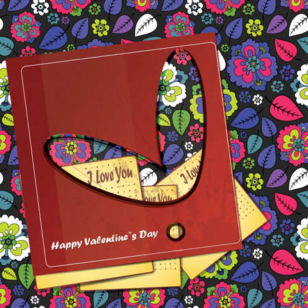 Valentine`s day card Stock Vector - 16912569