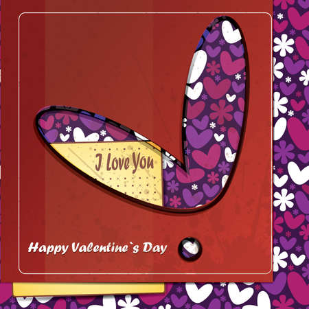 Valentine s day card Stock Vector - 16912630