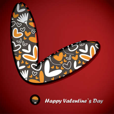 Valentine s day card Stock Vector - 16912594