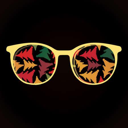 fashionably: Glasses with decorative elements on black